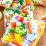 Crescent Roll Pizza with fresh vegetables.