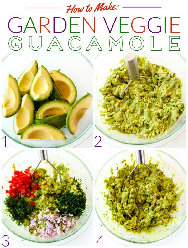 How to make Garden Veggie Guacamole