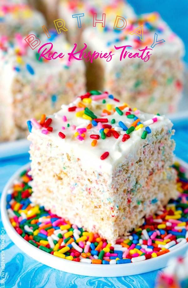 Ultimate Rice Krispies Treats recipe for Birthdays!