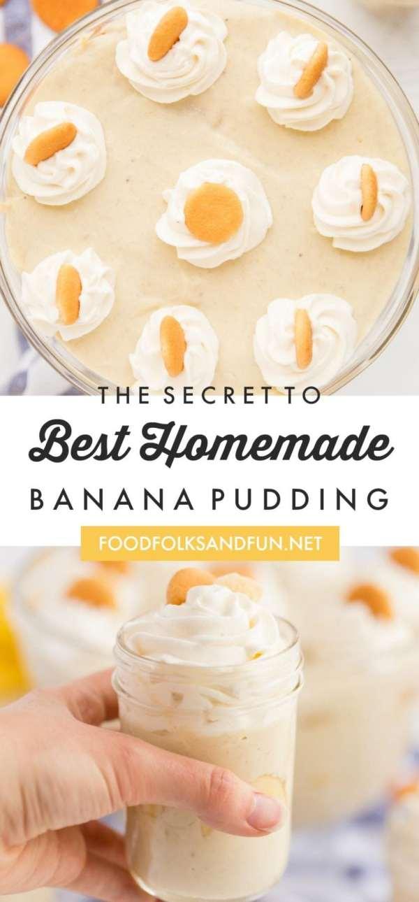 The Best-EVER Homemade Banana Pudding Recipe
