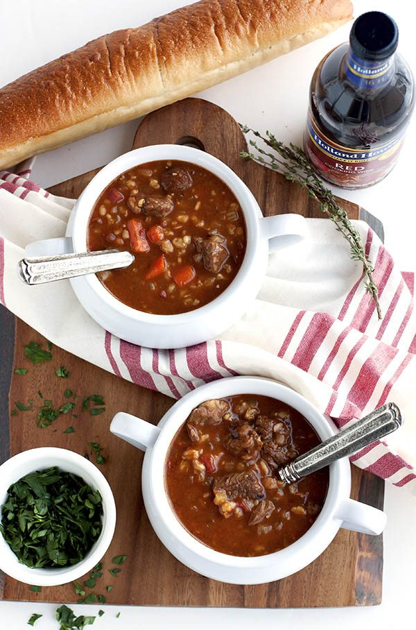 This Slow Cooker Beef and Barley Soup is an easy slow cooker meal that is packed with flavor and meaty goodness. It's just the soup recipe to make when temperatures drop.
