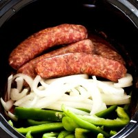 Sausage and Peppers - a Slow Cooker Recipe