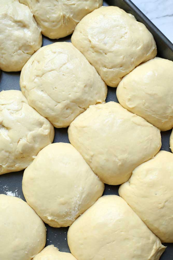 Potato Rolls ready for the oven