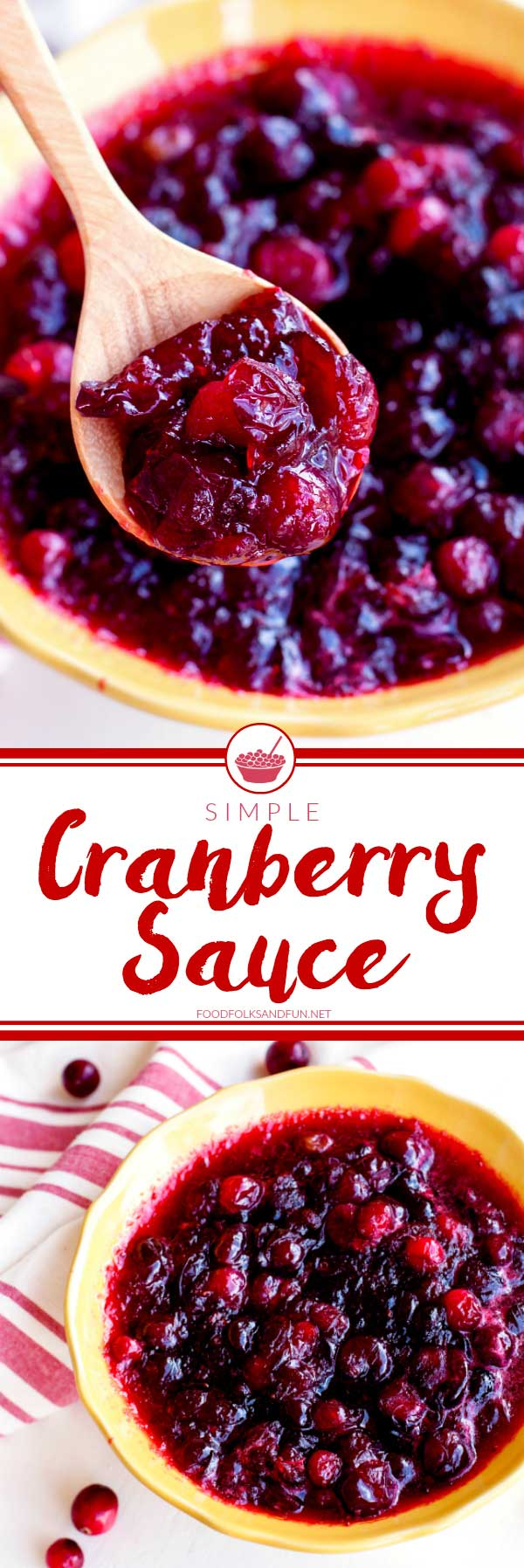 Picture collage of cranberry sauce.