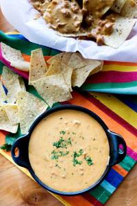 This is the only Chile con Queso recipe you'll need for parties, game day, snacks, and more! It's made from scratch, and not with processed cheese like Velveeta!