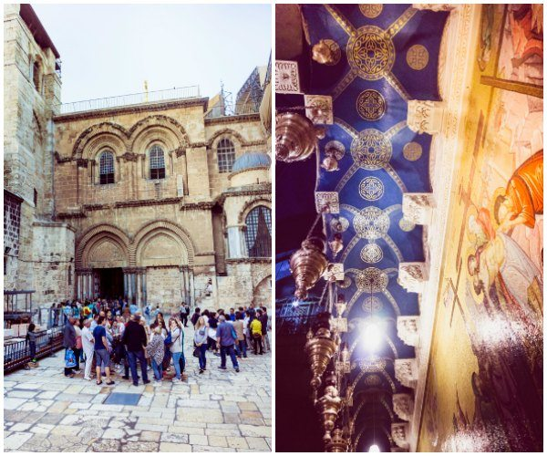 The Church of the Holy Sepulcher - pictures of the inside and outside