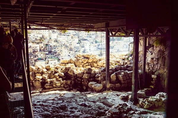 An active dig site in the City of David.