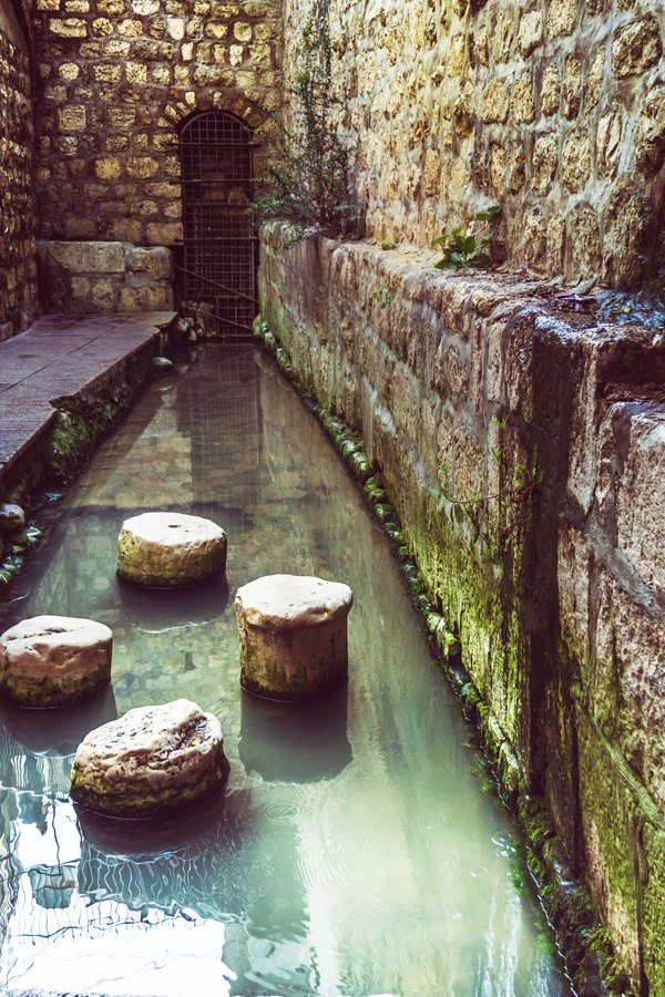 City of David 3 picture of a Byzantine Pool where King Hezekiah's tunnel ends.