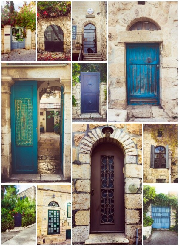 A picture collage of the Doors in Ein Karem