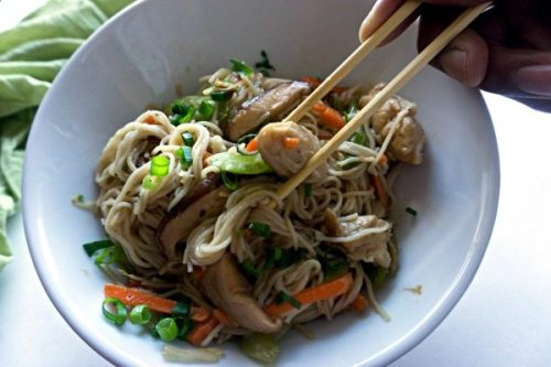 This Chicken Chow Mein is an easy, at-home recipe that's better than any Chinese takeout! It's simple, and so crave-worthy!