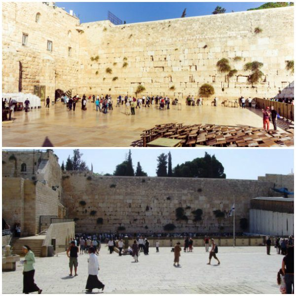 Touring the Western Wailing Wall in Jerusalem, Israel.