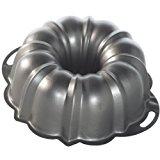 A metal bundt pan