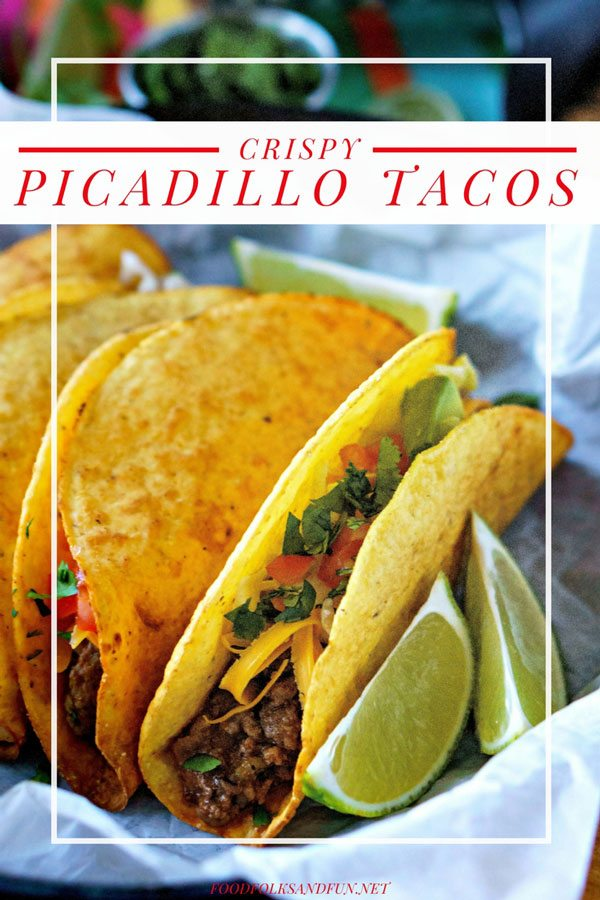 Picture of Picadillo Tacos for Pinterest.
