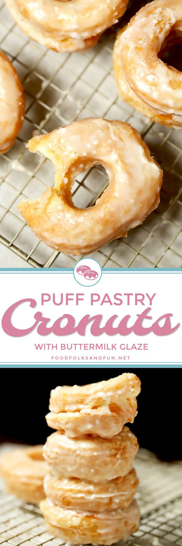 Cronuts made with Puff Pastry Dough.