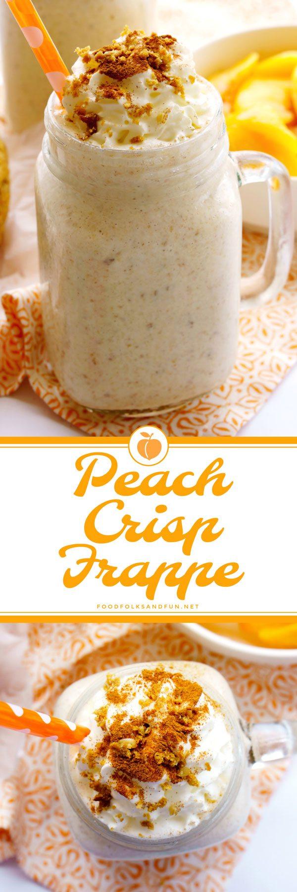 Peach Crisp made into a Frappe