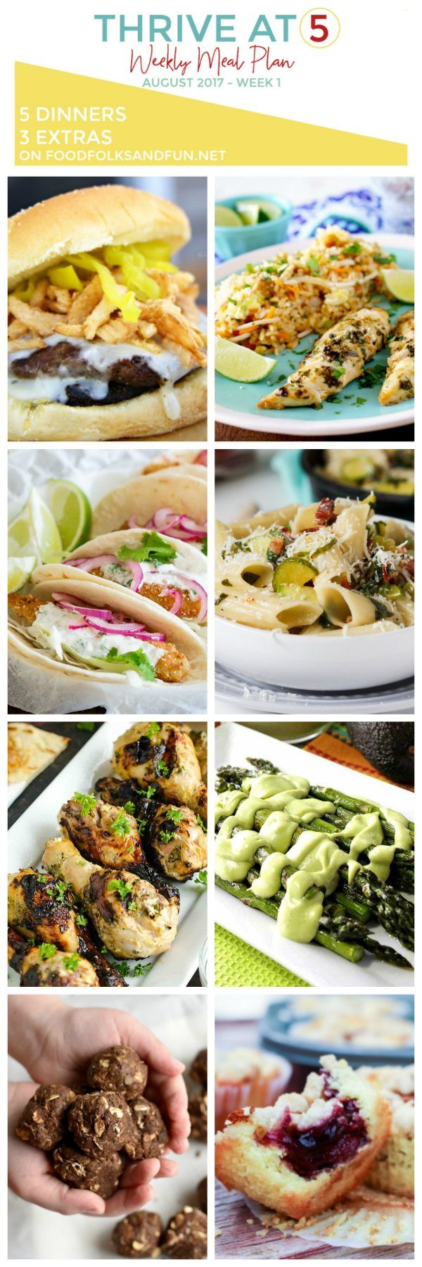 Meal Plan for the month of August.