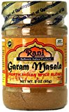 A bottle of garam masala spice