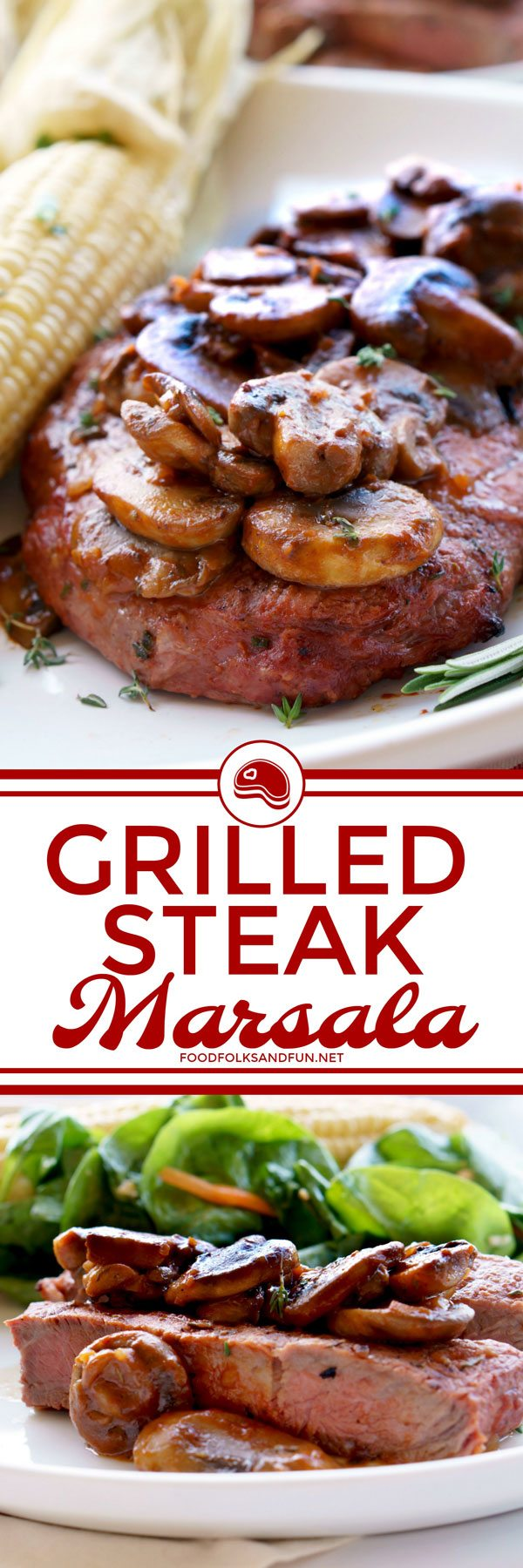Grilled Steak Marsala recipe for easy weeknight dinners or entertaining