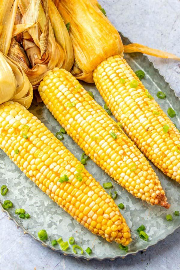 Buttery smoked corn.
