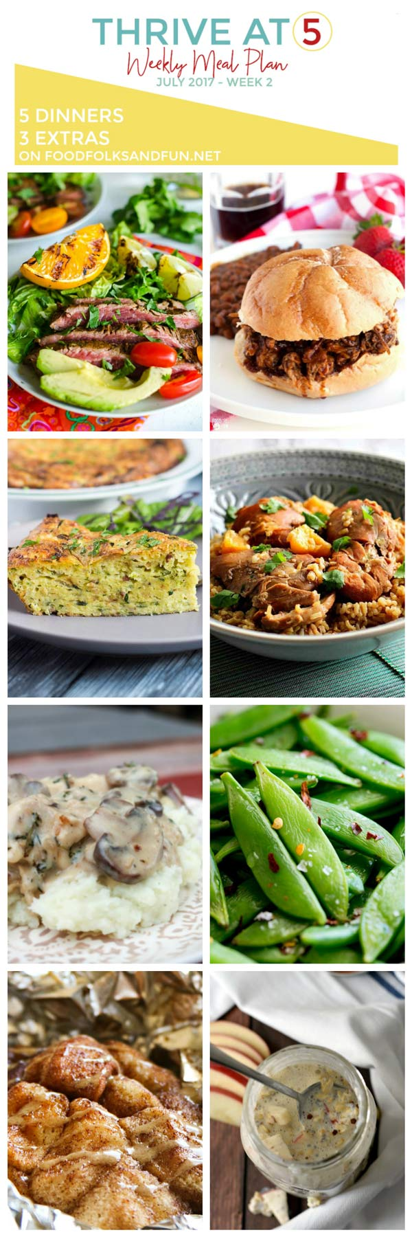 Various dinner options with text overlay for Pinterest