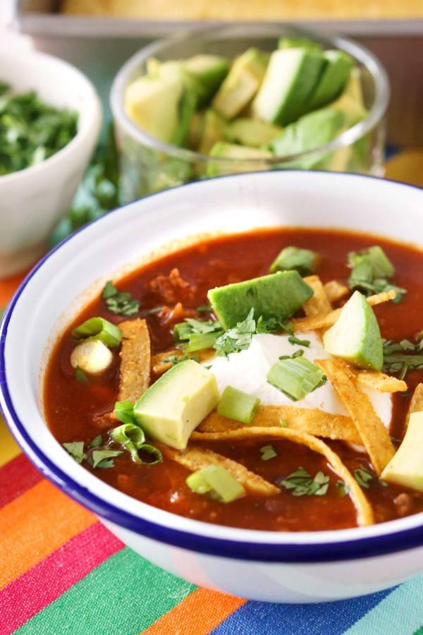 Best Slow Cooker Taco Soup recipe!