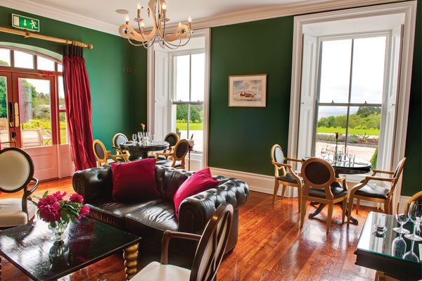 The Lodge at Ashford Castle green Sitting Area