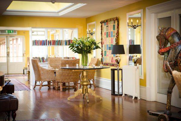The Lodge at Ashford Castle yellow hallway 2