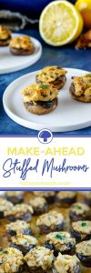 Stuffed Mushrooms that can be made the day before