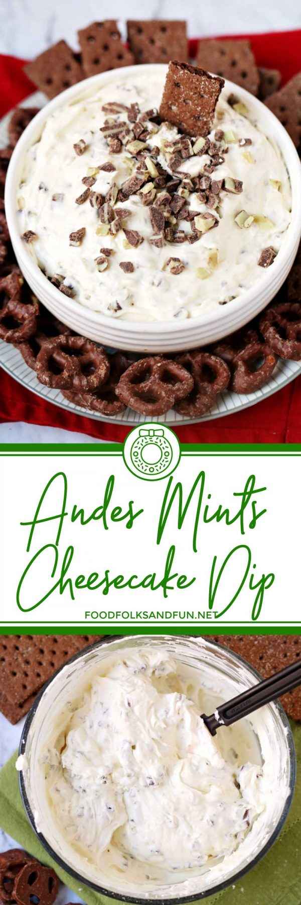 Quick and Easy Andes Mint Cheesecake Dip