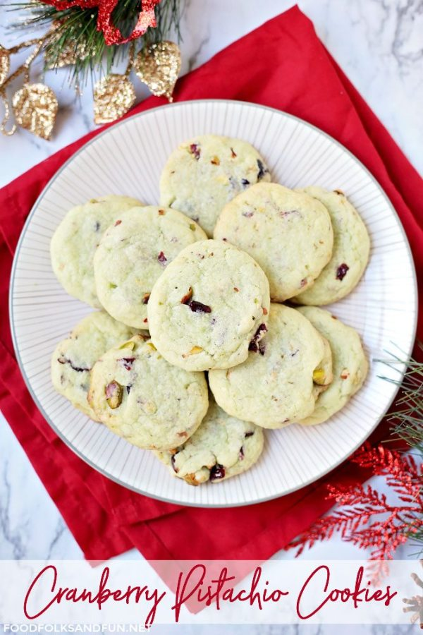 Easy Cranberry Pistachio Pudding Cookies