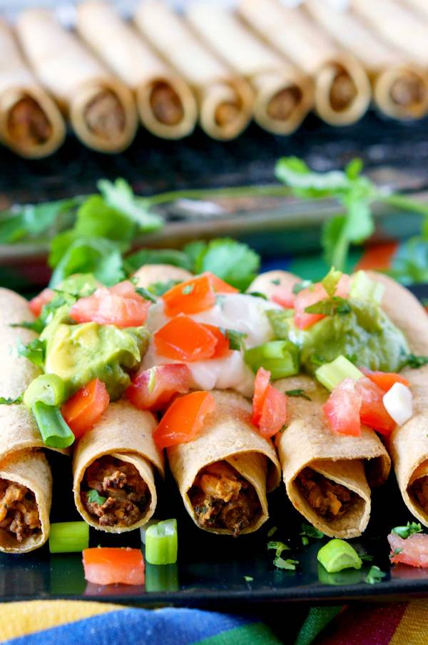 Beef Taquito recipe that's baked and not fried.