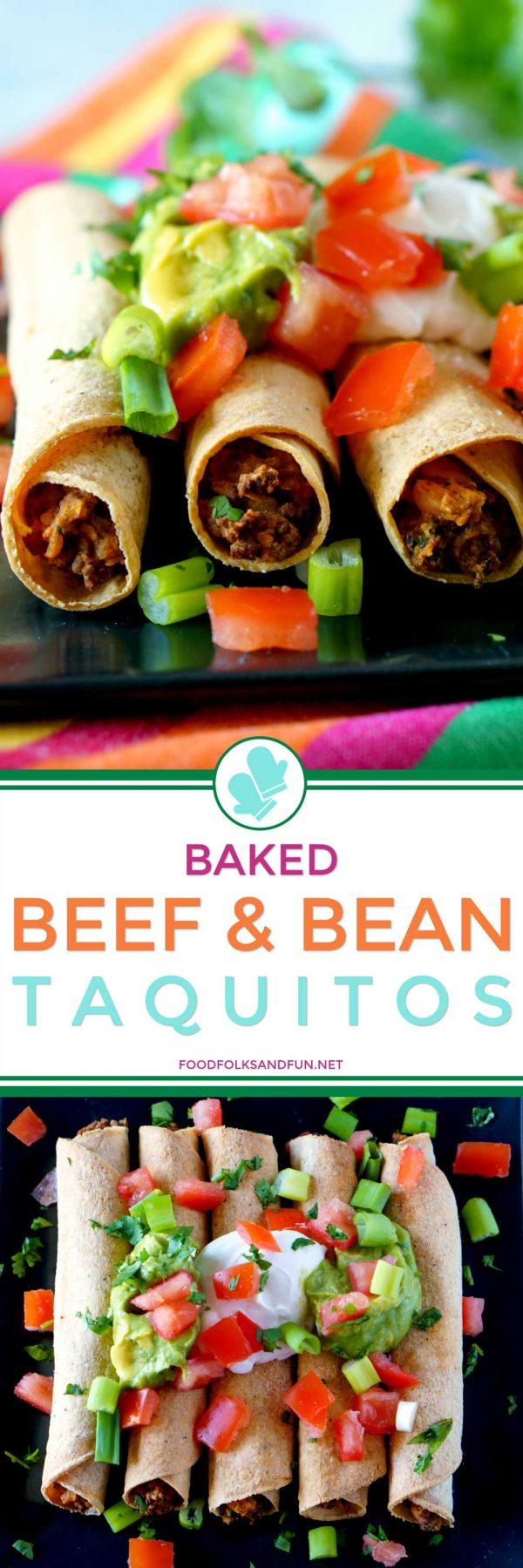 Freezer-friendly Beef Taquitos.