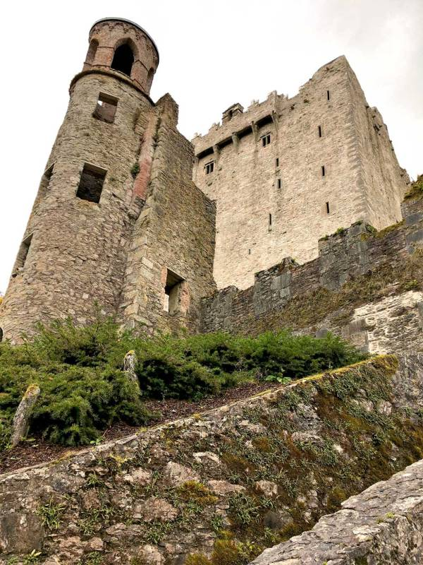 The Blarney Castle and its beautiful castle grounds.