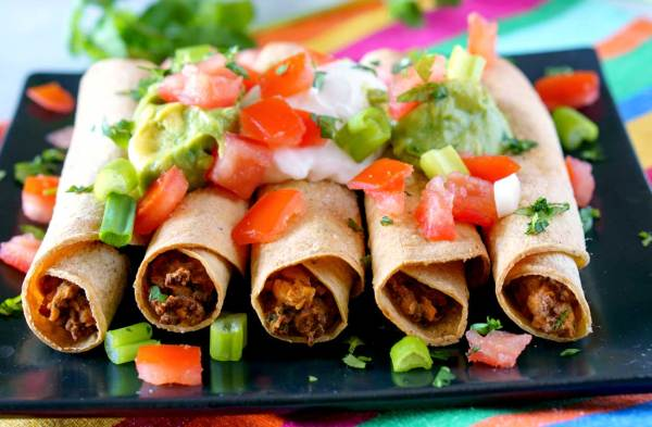 Oven-Baked Beef Taquitos