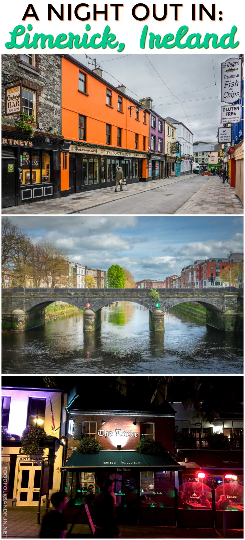 Limerick, Ireland is a beautiful city set on the banks of the Shannon River. There's so much to see and do during the day, and at night the Medieval Quarter is where it's at for delicious gastro pups and live Irish music and dancing.  via @foodfolksandfun