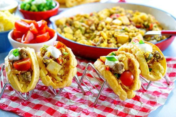 Waffle Tacos for a wicked easy brinner!