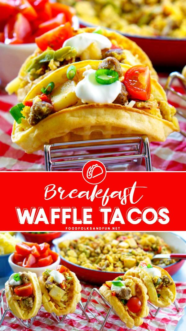 Waffle Tacos for brinner!