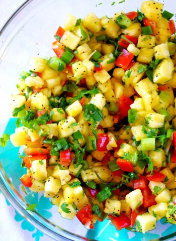 Pineapple Salsa made in just minutes!
