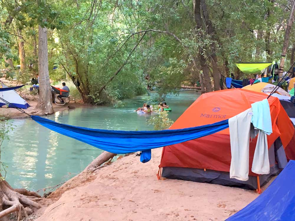 Pro Tip: grab a campsite by the creek, it's a few degrees cooler!
