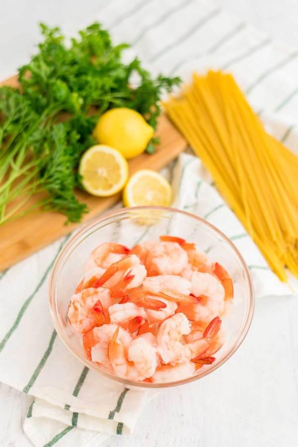 Ingredients for Shrimp Scampi.