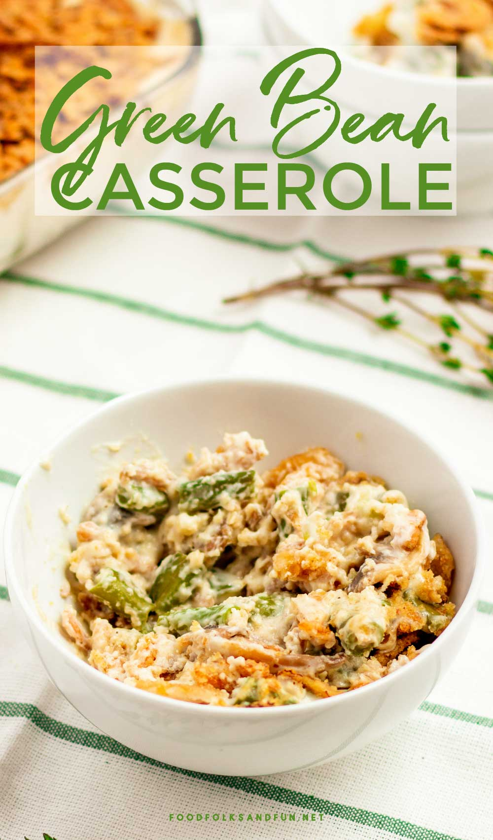Make Ahead Green Bean Casserole