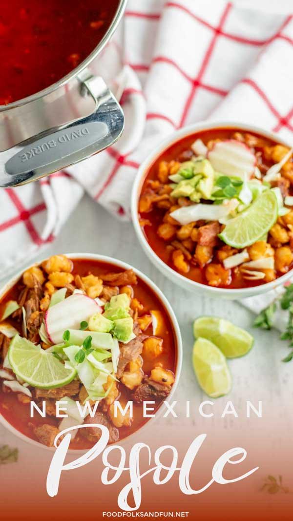Two bowls of New Mexico Posole