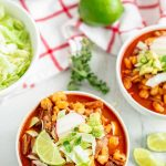 New Mexico Posole in a bowl