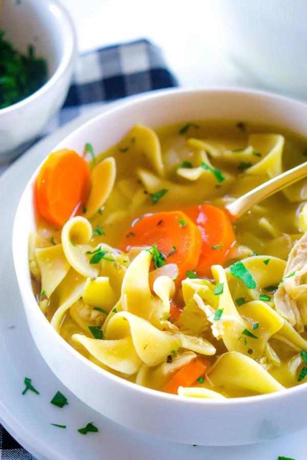 BEST Rotisserie Chicken Noodle Soup recipe