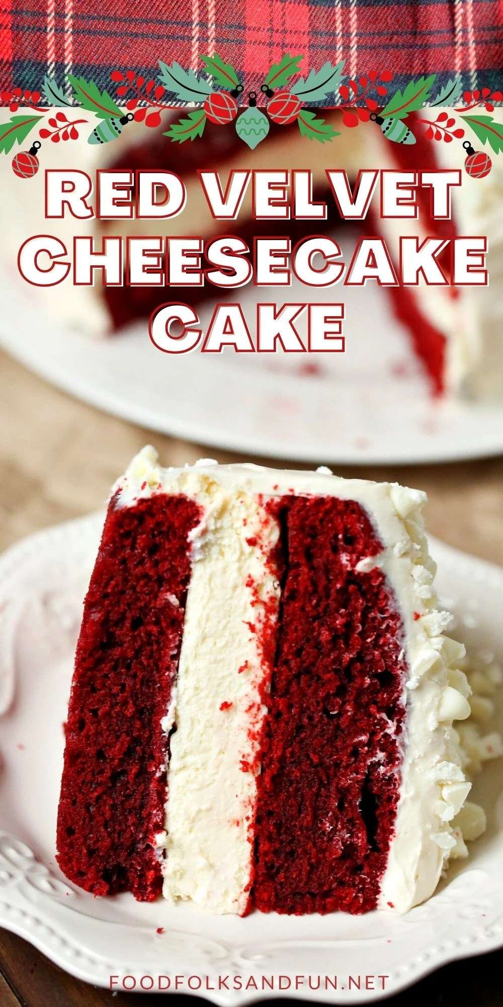 This Cheesecake Factory Red Velvet Cheesecake Cake Copycat Recipe is simply AMAZING! Wow your guests for Valentine's Day, Christmas, Birthdays, and dinner parties! via @foodfolksandfun