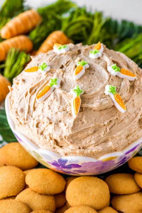 A dip made with the flavors of carrot cake.