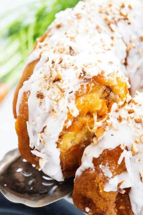 Carrot Cake Monkey bread for a sweet breakfast treat.