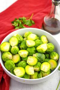 Roasted Brussels Sprouts Step 1