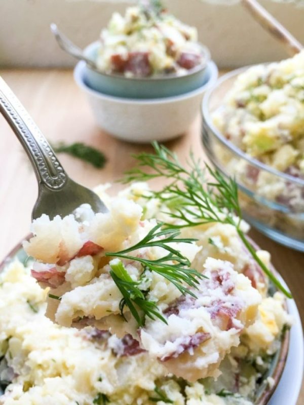 Red Bliss Potato Salad with Hard Boiled Eggs