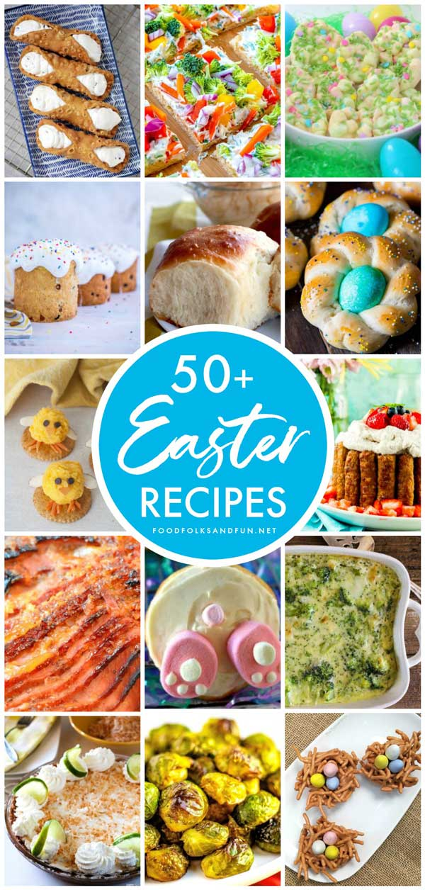 This Easter Recipes Roundup has over 50 recipes for the perfect Easter Brunch and Easter Dinner spread. via @foodfolksandfun